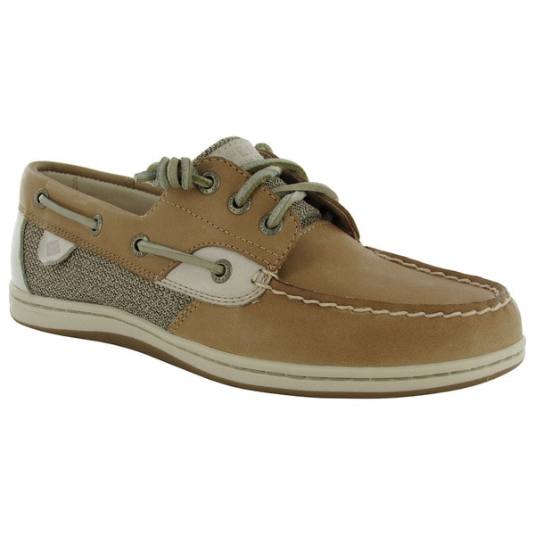 Sperry Womens Songfish Core Slip On 3 Eye Lace Up Boat Shoes