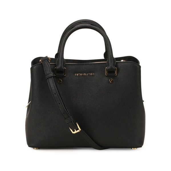 Michel Kors Black Savannah Medium Satchel Handbag