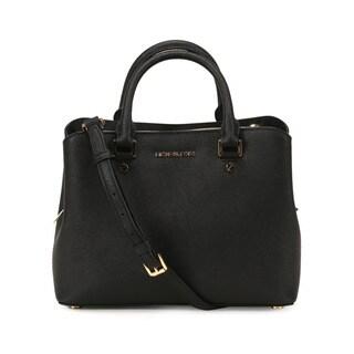 Michel Kors Black Savannah Medium Satchel Handbag