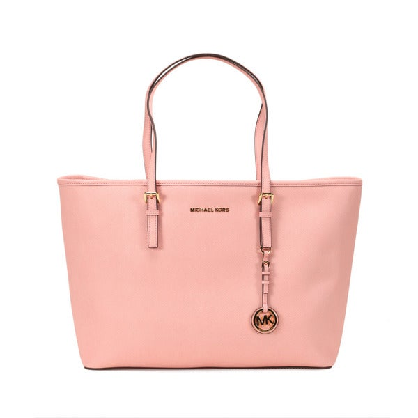 Michael Kors Pale Pink Jet Set Travel Medium Multi Function Tote Bag