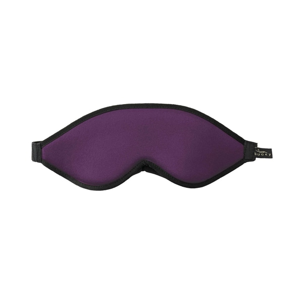 Bucky Purple Fabric 10.5-inch x 4-inch x 1.25-inch Blockout Shade Eye Mask