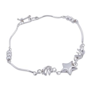 Handcrafted Silver 'Shining Star' Bracelet (Peru)