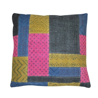 Dhurrie Cotton Square Pillow (India)