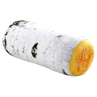 Microbead Squish Birch Log Wood Roll Pillow