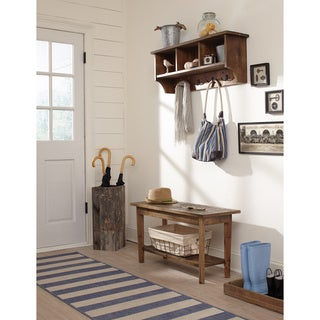 Alaterre Revive Metal Coat Hooks and Reclaimed Wood Storage Cubby