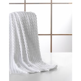 Ottomanson Pure Cotton Collection Bordered Design 27-inch x 52-inch Bath Towels (Set of 4)