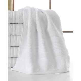 Ottomanson Solomon Collection White Cotton 16-inch x 30-inch Wash Cloths (Set of 6)