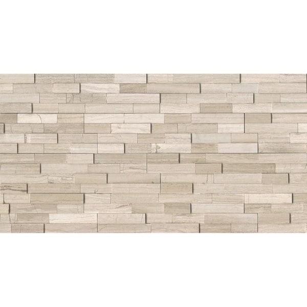 MRBASHGRYLED Natural Ledger Ashen Grey Stone Tile (Case of 7)
