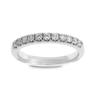 Azaro Jewelry 14k White Gold 1/3ct TDW Round Diamond Wedding Band (G-H, SI1-SI2)
