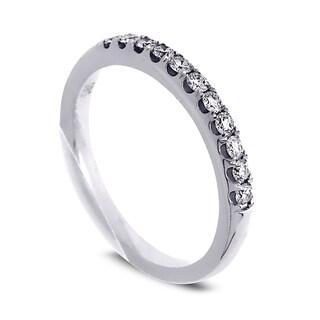Azaro Jewelry 14k White Gold 1/4ct TDW Round Diamond Wedding Band (G-H, SI1-SI2)