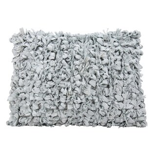 Mina Victory Shag Loop Silver Throw Pillow by Nourison (14 x 20-inch)