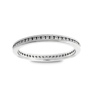 Azaro Jewelry 14k White Gold 1/4ct TDW Round Diamond Eternity Wedding Band (G-H, SI1-SI2)