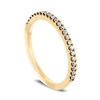 Azaro Jewelry 14k Yellow Gold 1/5ct TDW Round Diamond Halfway Wedding Band (G-H, SI1-SI2)