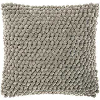 Mina Victory Shag Loop Pom Pom Grey Throw Pillow by Nourison (17 x 17-inch)