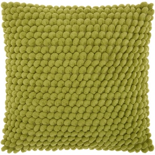 Mina Victory Shag Loop Pom Pom Apple Green Throw Pillow by Nourison (17 x 17-inch)