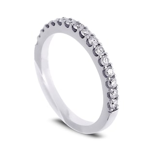 Azaro Jewelry 14k White Gold 2/5ct TDW Diamond Halfway Wedding Band (G-H, SI1-SI2)
