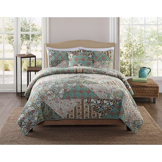 Gabby Multicolor Cotton 3-piece Quilt Set