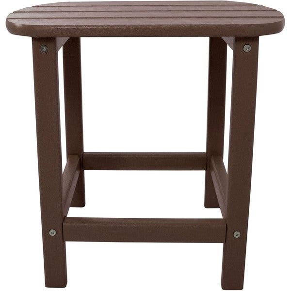 Hanover Outdoor Mahogany All-weather Side Table