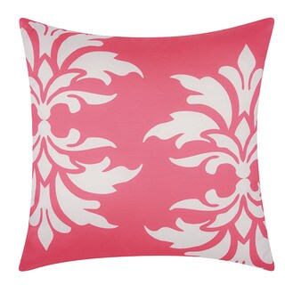 Mina Victory Indoor/ Outdoor Damask Hot Pink Throw Pillow by Nourison (20 x 20-inch)