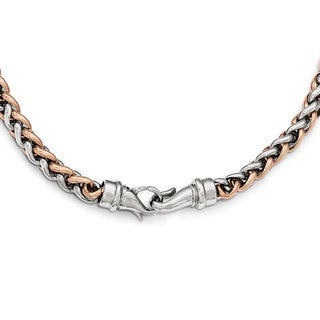 Stainless Steel Polished Rose IP-plated 24-inch Necklace