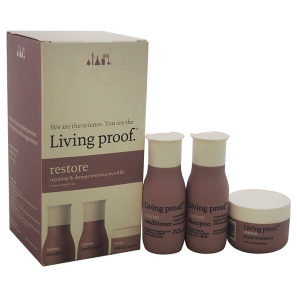 Living Proof Restore Repairing & Damage 3-piece Reversing Travel Kit