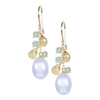 14-karat Gold White Freshwater Pearl Hook Earrings