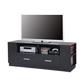 Homestar Black MDF 2-drawer TV stand