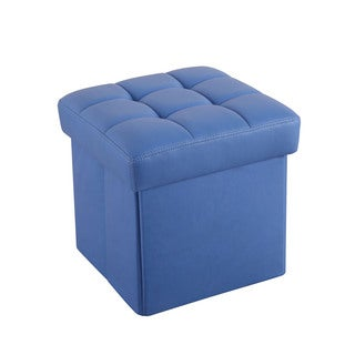 Kori Youth Blue Foam 13-inch x 14-inch Storage Ottoman
