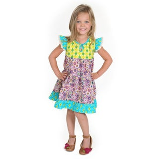 Girls' Savannah Pinwheel Woven Dress
