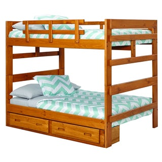 Heartland Collection Pine Wood Full-over-full Bunk Bed With Under-bed Drawers