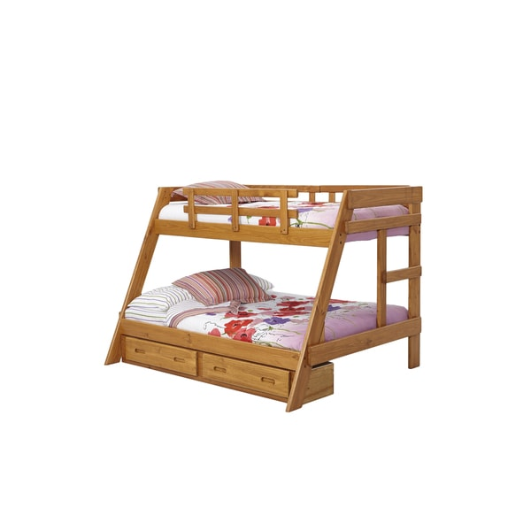 Heartland Youth Pine Twin-over-full Bunkbed with Storage
