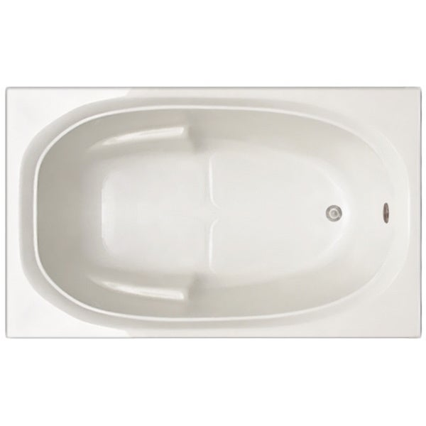 Signature Bath White Acrylic 60 Inch X 30 Inch X 19 Inch Drop In Bathtub 18