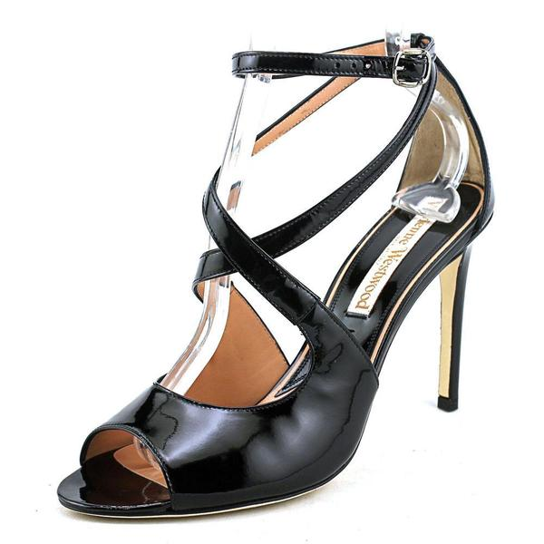 Vivienne Westwood Women's Cross Sandal Patent Leather Dress Shoes