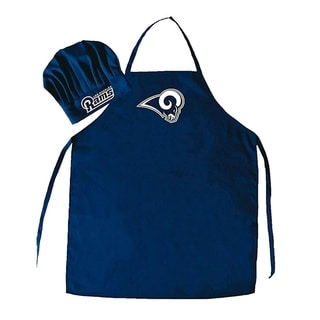 NFL Sports Team Logo Los Angeles Rams Blue Chef Hat and Apron