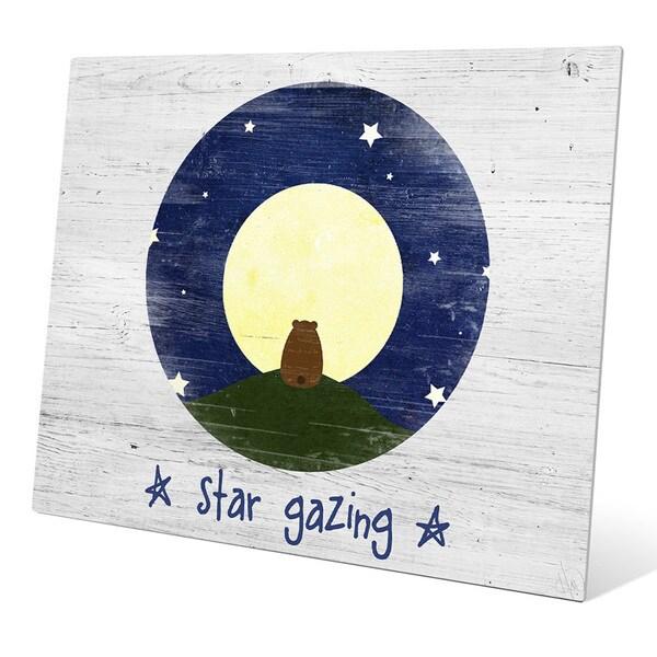 'Star Gazing Bear' Metal Graphic Wall Art