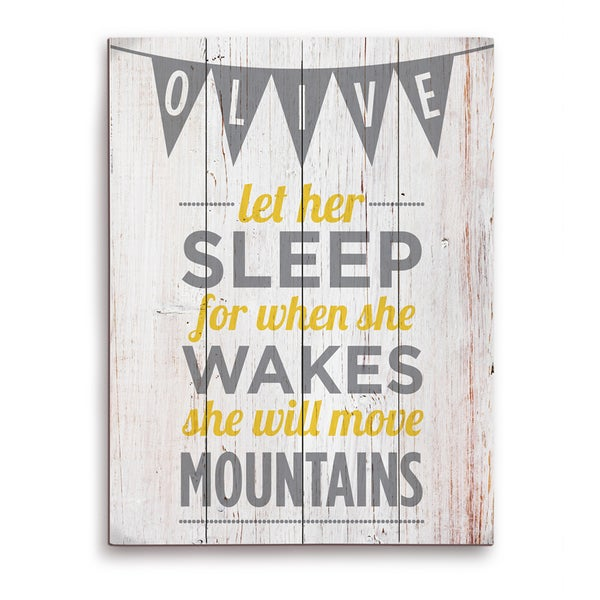 'Let Her Sleep' Graphic Wood Wall Art