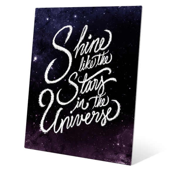'Shine Like the Stars in the Universe' Graphic Wall Art on Metal