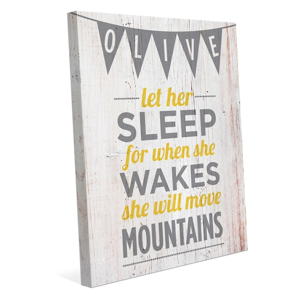 'Let Her Sleep' Graphic Canvas Wall Art