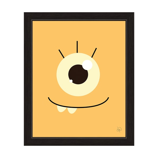 Art and Photo Decor 'Orange Monster' Graphic Wall Art Print with Black Frame