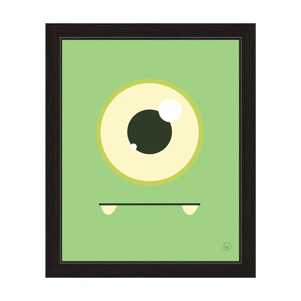 'Green Monster' Graphic Black Frame Wall Art Print