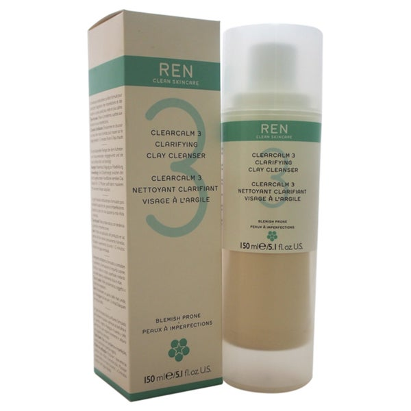 REN Clearcalm 3 Clarifying Clay 5.1-ounce Cleanser