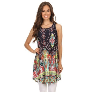 MOA Collection Women's Sleeveless Ornate Top