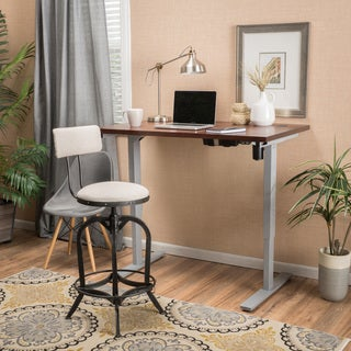 Christopher Knight Home Warren 58-inch Acacia Wood Adjustable Standing Desk with Single Powered Base