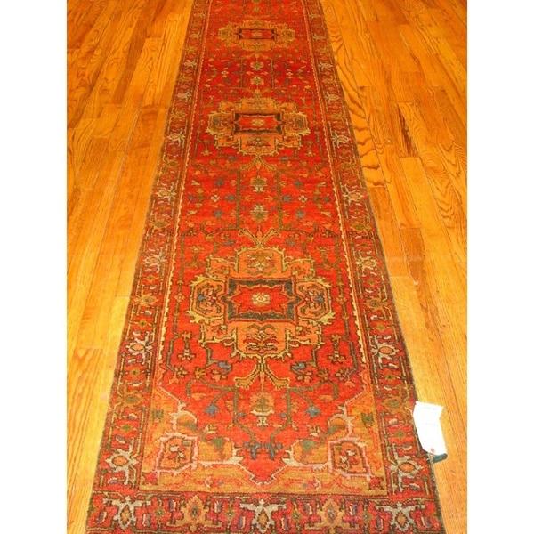 Pasargad Serapi Hand-knotted Rust Lamb's Wool Runner (2'7 x 6') 19262151