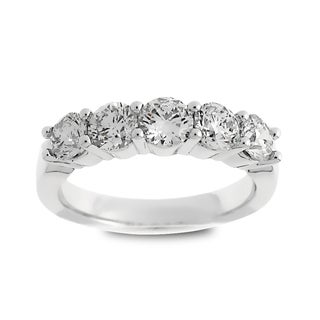 Azaro Jewelry 14k White Gold 1 1/2ct TDW Round Diamond Wedding Band (G-H, SI1-SI2)