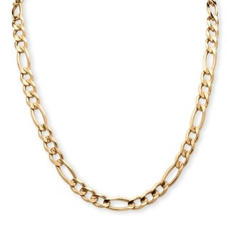 PalmBeach Men's Figaro-Link Chain in 14k Yellow Gold Ion-Plated Sterling Silver