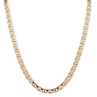 PalmBeach Men's Mariner-Link Chain in 14k Yellow Gold over Sterling Silver
