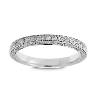 Azaro Jewelry 14k White Gold 7/8ct TDW Round Diamond 3-row Eternity Wedding Band (G-H, SI1-SI2)