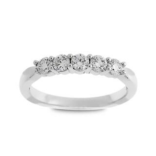 Azaro Jewelry 14k White Gold 1/2ct TDW Round Diamond Wedding Band (G-H, SI1-SI2)