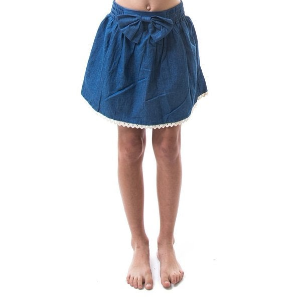 Soho Kids Girls Cotton Skater Denim Skirt